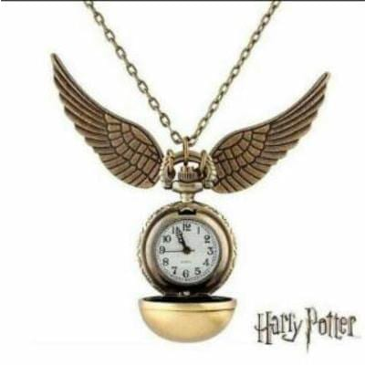 Reloj Metálico Snitch Dorada PT Harry Potter Fantasia