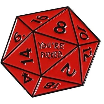 Pin Dado 10 Caras PT Dungeons & Dragons Fantasia