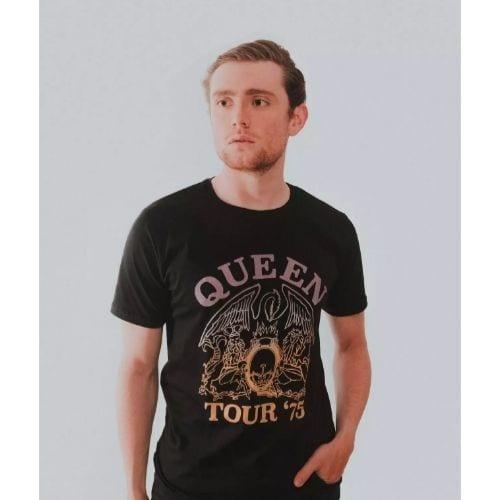 Camiseta Logo Rockgotá Queen Música Hombre (Talla S)