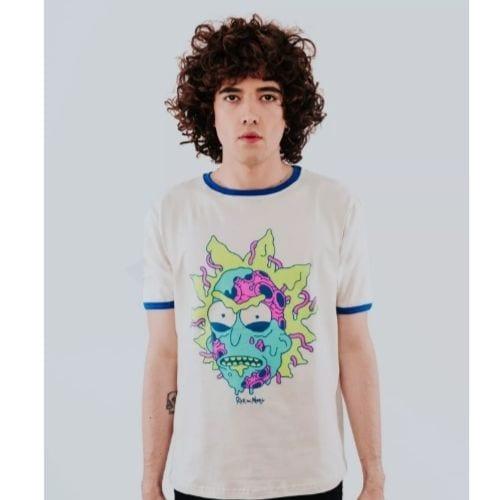Camiseta Bad Rick Rockgotá Rick and Morty Animados Hombre (Talla M)