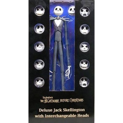"Figura Jack Skellington Neca The Nightmare Before Christmas Disney Cabezas Intercambiables 14"" High Quality Reproduction"
