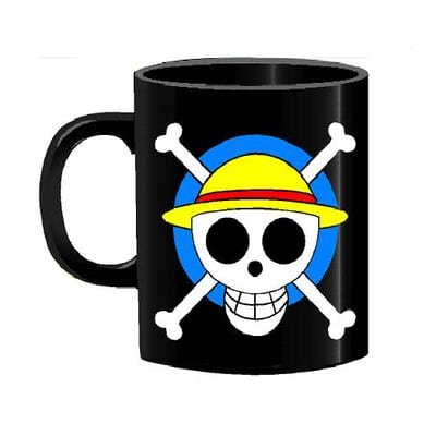 Mug Tallado Mugiwara Jolly Roger TooGEEK One Piece Anime