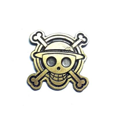 Pin Metálico Jolly Roger Mugiwara TooGEEK One Piece Anime