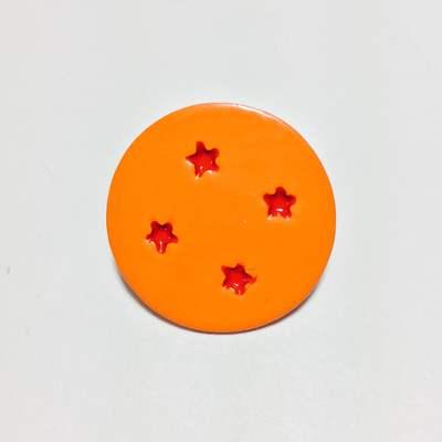 Pines Metálicos Esfera 4 Estrellas TooGEEK Dragon Ball Anime