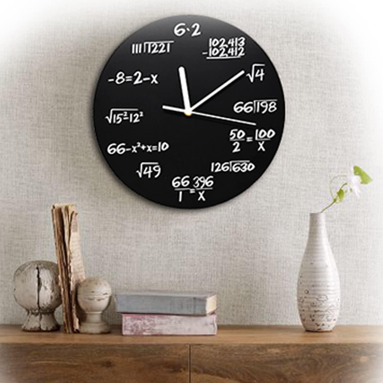 Arad Ecuaciones Matemáticas reloj de pared Negro (Entrega de 4 a 5 semanas una vez realizado el pago)