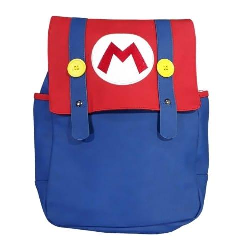 Maleta Mario Bros PT Super Mario Videojuegos Roja con Azul  y botones amarillos