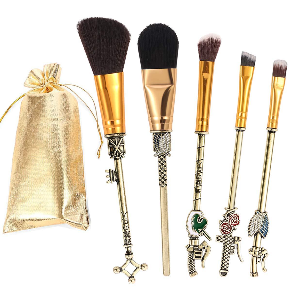 Set de brochas de maquillaje Attack on Titan (Entrega de 3 a 4 semanas una vez realizado el pago)