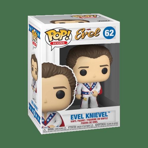 Figura Evel Knievel Funko POP Icons Deporte Extremo Traje blanco y baston