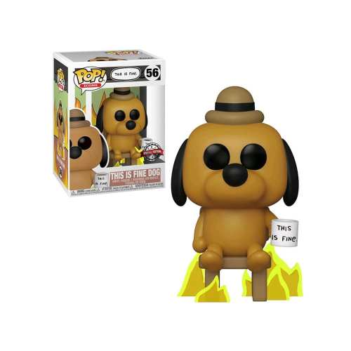 Figura This Is Fine Dog Funko POP Icons Animados Special edition