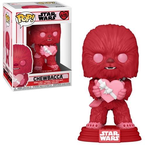 Figura Chewbacca San Valentin Funko POP Star Wars Color Rosa