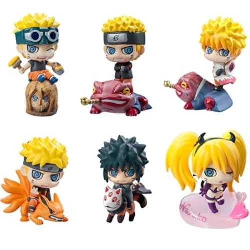 Set Figuras Varios Petit Chara Land Naruto Shipudden Anime X6 Unidades Pack 2