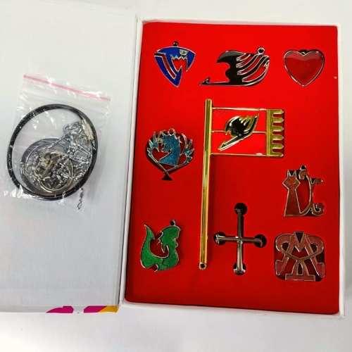 Set Collar Emblemas Fairy Tail PT Anime X9