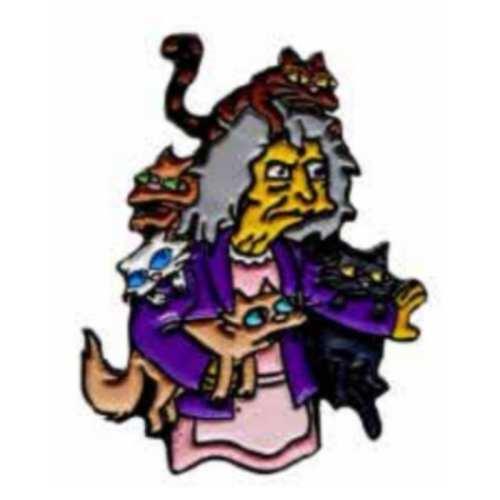 Pin Metálico Eleanor Bric A Brac Los Simpsons Animados Color