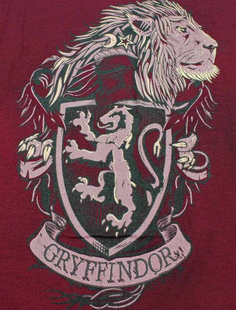 CAMISETA Gryffindor Mic Movies Harry Potter Fantasìa Mujer Color Vinotinto Con Escudo Casa Talla M