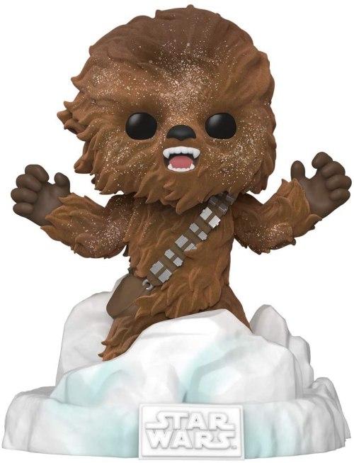 Figura Battle At Echo Base Chewbacca Funko Pop! Star Wars Ciencia Ficción Deluxe Amazon Exclusive Flocked