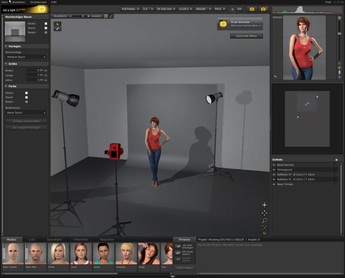 Fotografieren lernen  Software zum ben von Lichtsetzung