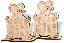 лазерная резка, сувенир с календарем и логотипом, крыса 2008