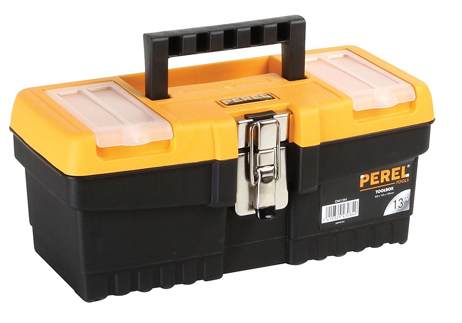 Perel OM13M 13-Inch Toolbox with Metal Latches