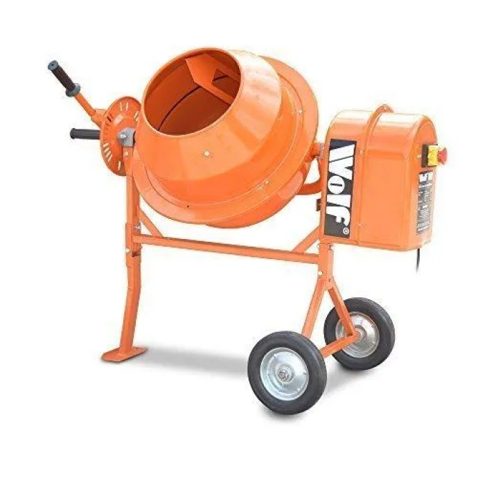 Wolf 50l 375w cement mixer