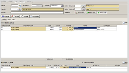Gestión de producción Software