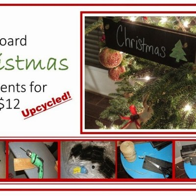 Create Chalkboard Ornaments for Under $12