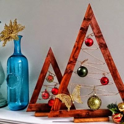Wooden Ornament Tree: A Crate & Barrel Hack