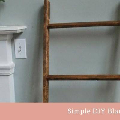DIY Blanket Ladder for A Baby's Room