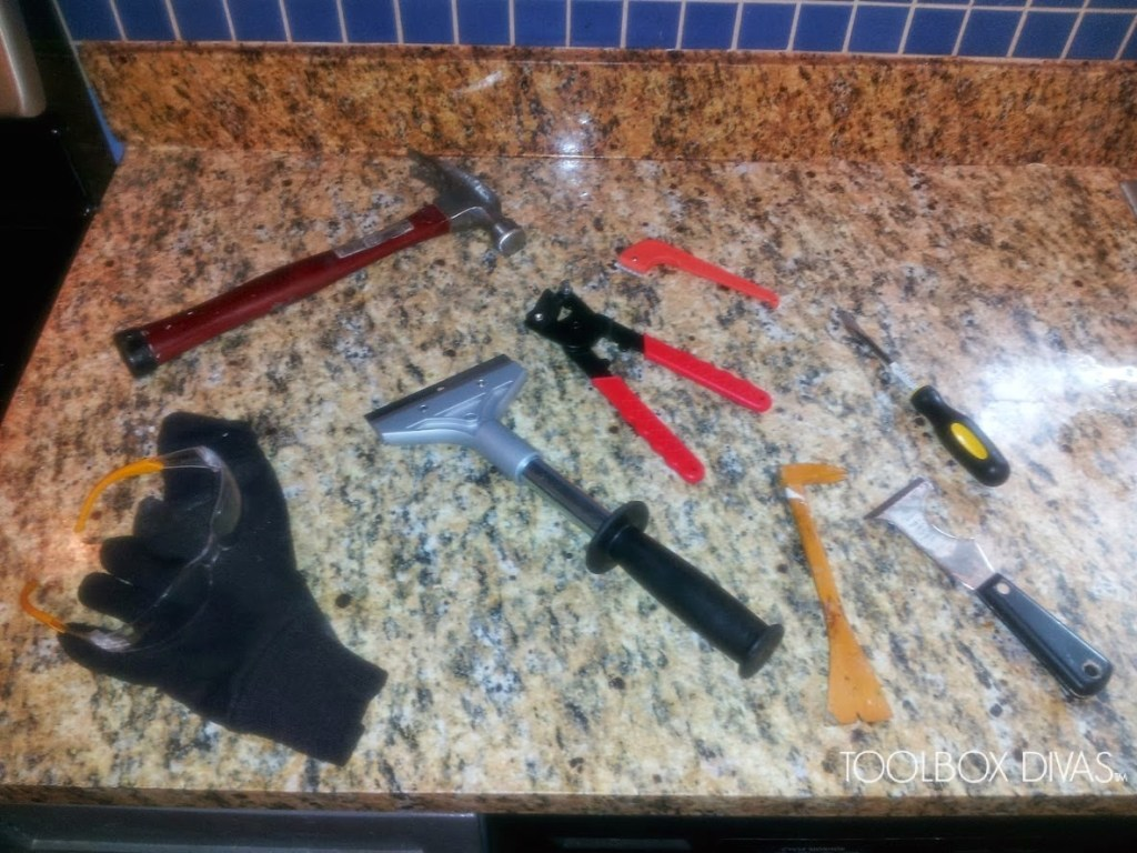 tools to remove old Tile
