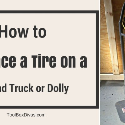 How to Replace a Tire on a Hand Truck or Dolly