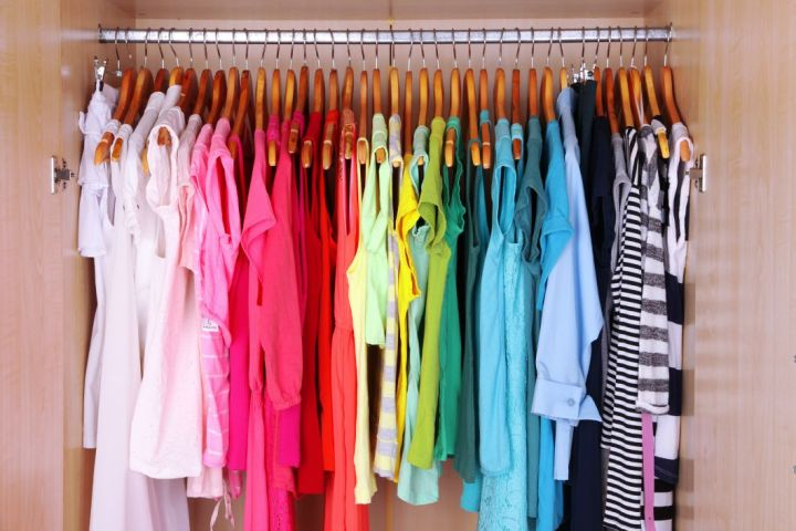 Womans Organized Wardrobe
