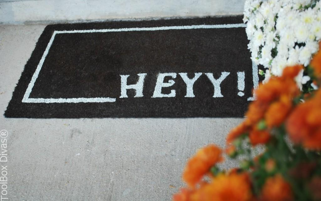 DIY HeYY Doormat