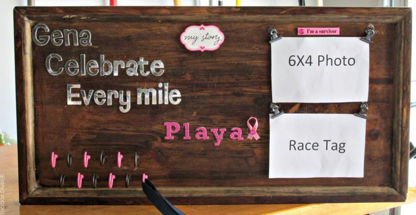 Race tag holder