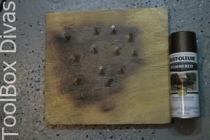 spray paint nails