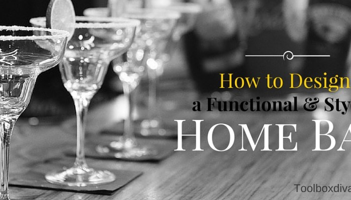 How to Design a Truly Functional Home Bar
