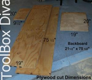 plywood cut dimensions