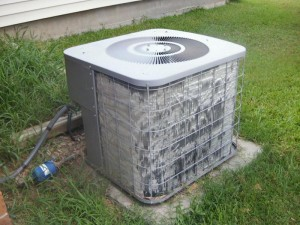 AC Unit that needs to be cleaned