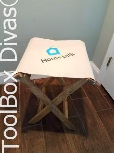 Build a folding canvas stool