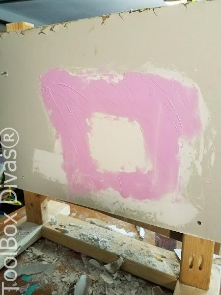 Learn How to Patch a Hole in Drywall - Toolbox Divas 3rd coat