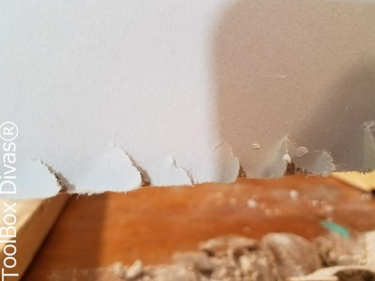 Learn How to Patch a Hole in Drywall - Toolbox Divas .rough edges by a dull blade