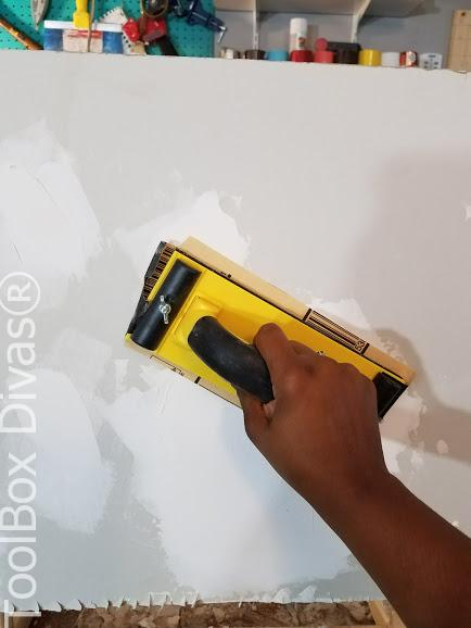 Learn How to Patch a Hole in Drywall - Toolbox Divas drywall sanding