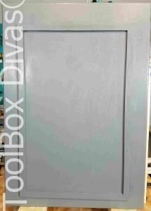 Door with trim added - Toolbox Divas