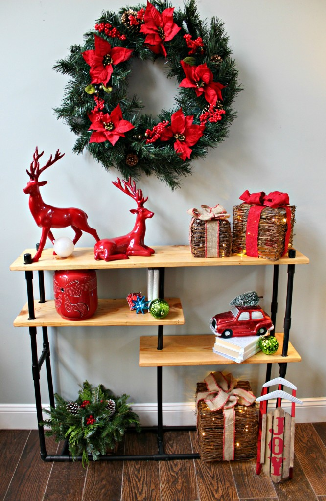 ToolBox Divas-DIY Challenge Industrial Pipe Console Table