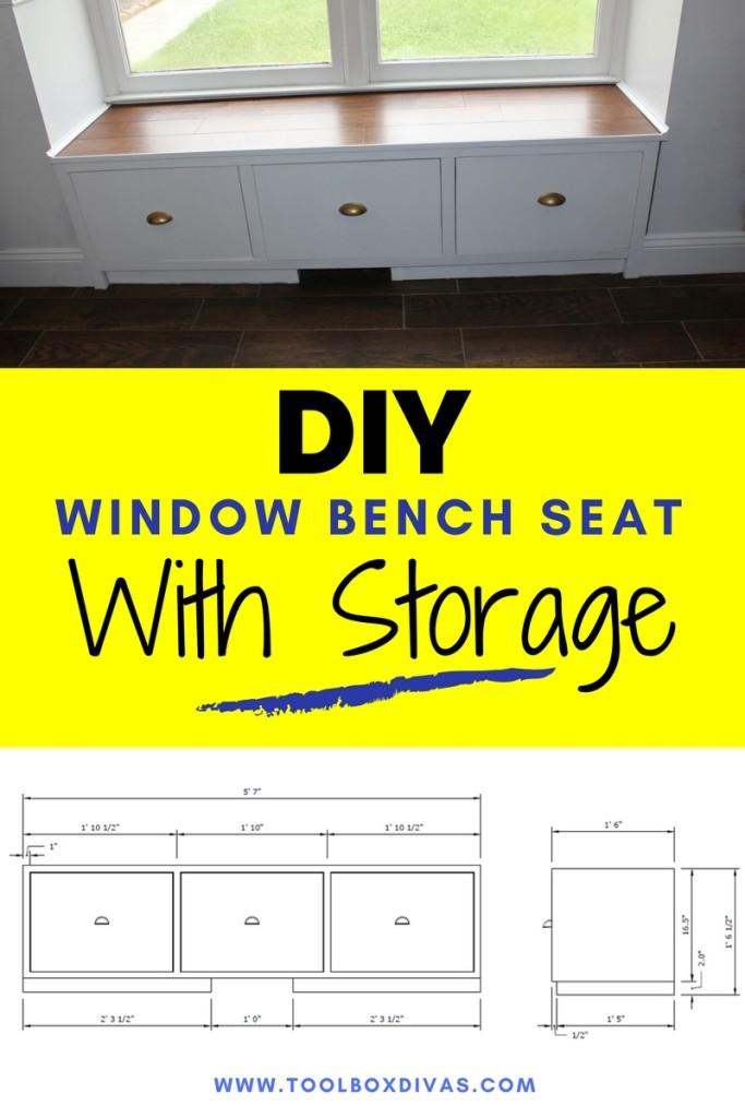 DIY Window Seat - Toolbox Divas