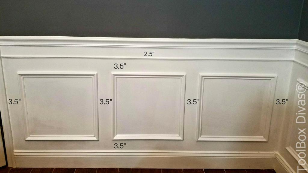 How to Install Picture Frame Moulding Wainscoting - ToolBox Divas Wainscoting Molding on board and batten molding, baseboards molding, drywall molding, carpet molding, stone molding, wayne's molding, painting molding, chair rail molding, wainscot cap molding, furniture molding, bathroom molding, plaster molding, kitchen molding, paint molding, floor molding, travertine molding, window molding, marble molding, sink molding, fascia molding,