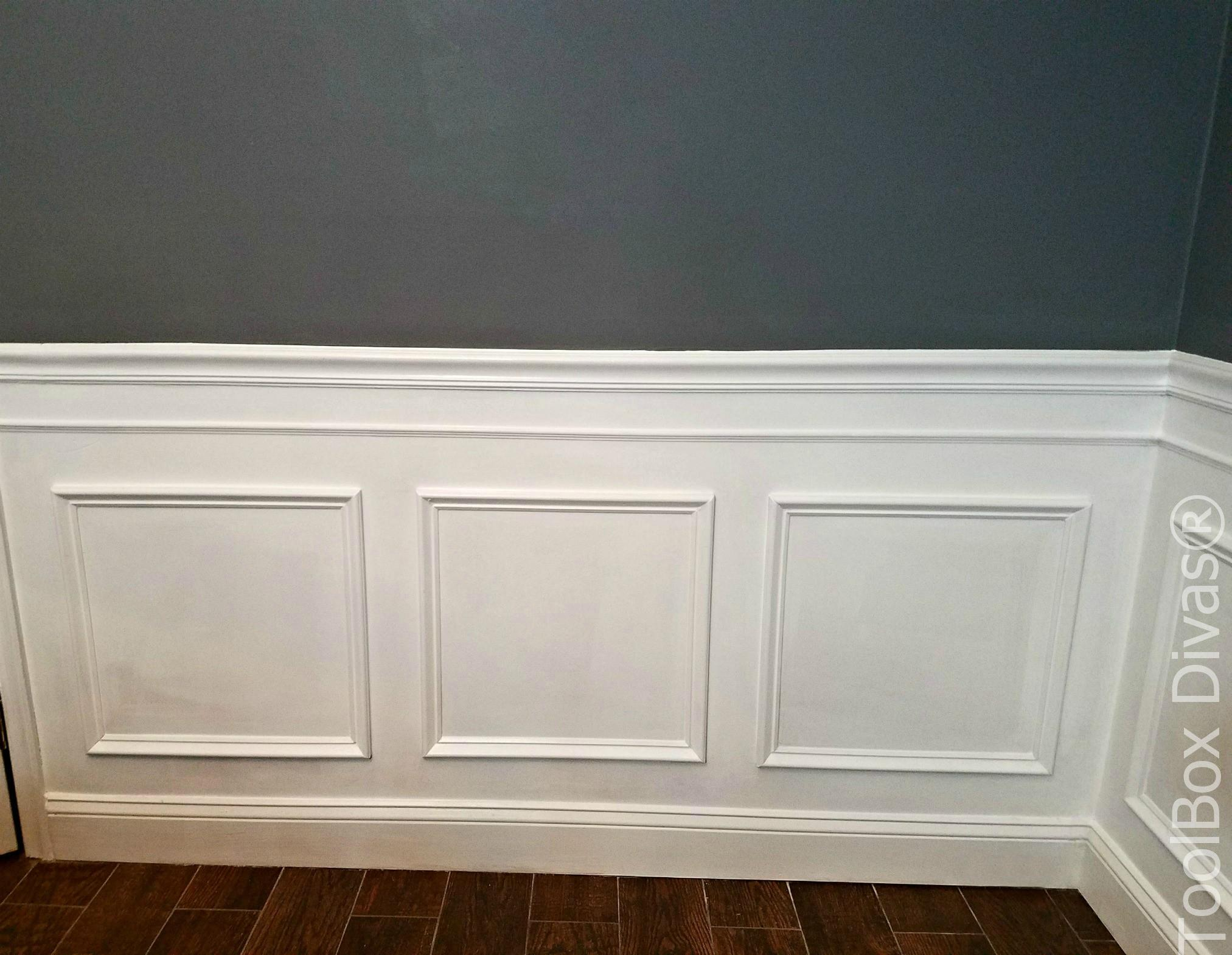 picture frame moulding below chair rail ben franklin how to install wainscoting toolbox divas diy