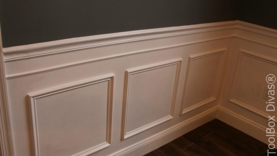 How to Install Picture Frame Moulding Wainscoting - ToolBox Divas