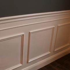 Picture Frame Moulding Below Chair Rail Black Dining Room Cushions How To Install Wainscoting