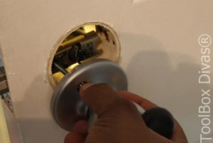 10 How to Replace a Bedroom & Bathroom Door Knob - Toolbox Divas