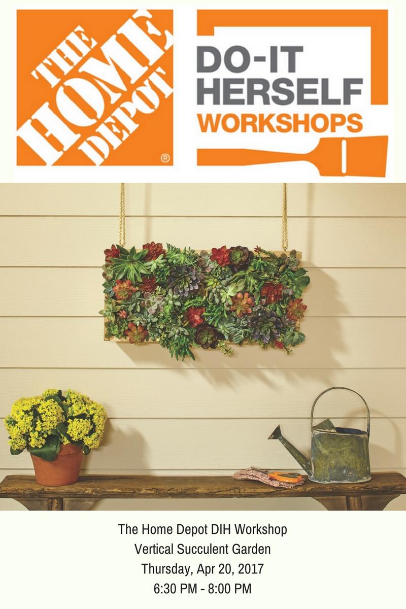 The Home Depot Dih Workshops Vertical Succulent Garden Toolbox Divas