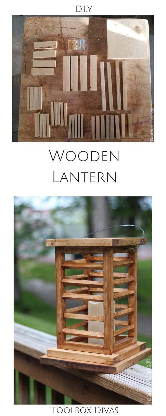 DIY decorative lanterns, candle lantern, outdoor lanterns. Free build plans. @Toolboxdivas #Lantern #Outdoorlighting